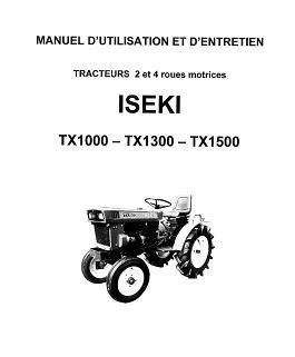 manuel technique iseki txg 23